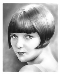 Louise Brooks - Silent Film Star by gregchapin