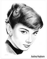 Audrey Hepburn by gregchapin