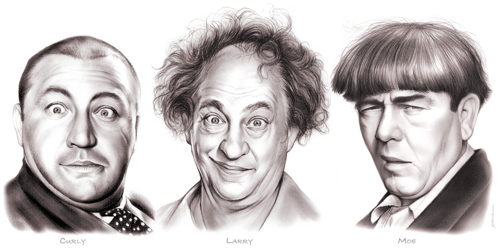 The three stooges by gregchapin on deviantart for The three stooges coloring pages