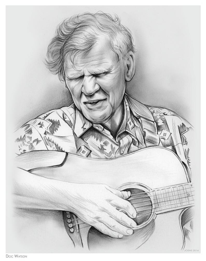 Guitarist Doc Watson by gregchapin