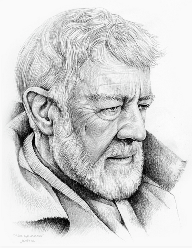 Alec Guinness by gregchapin