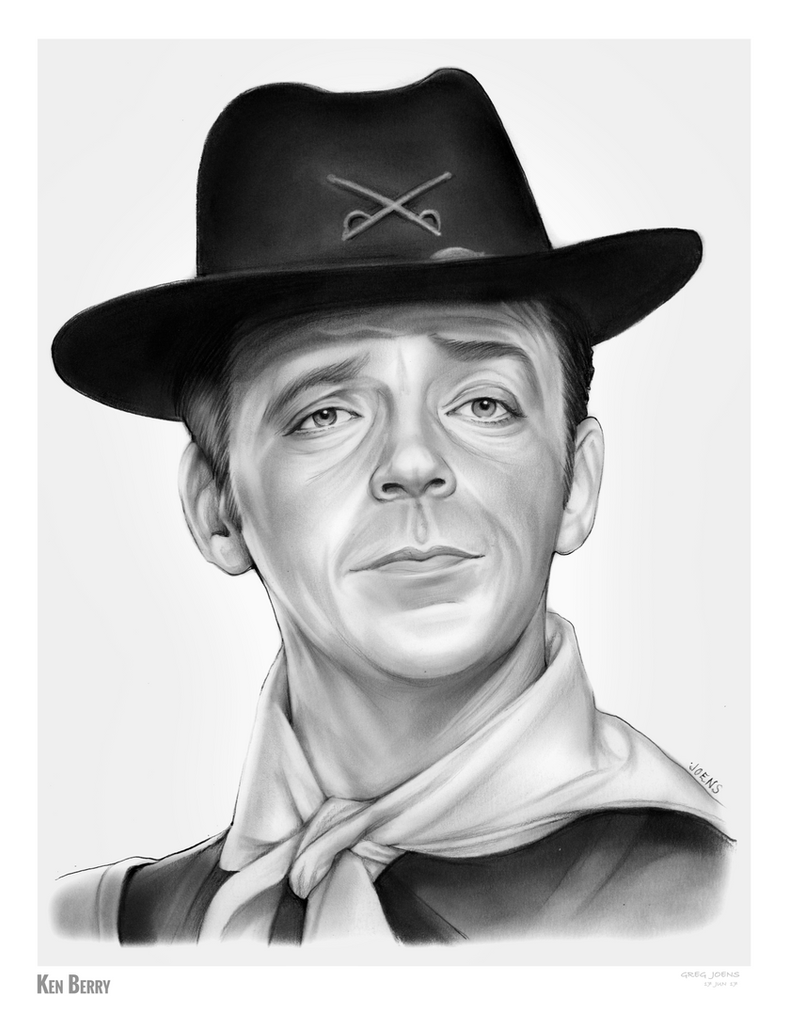 Ken Berry - Sketch of the Day 17JUN17 by gregchapin