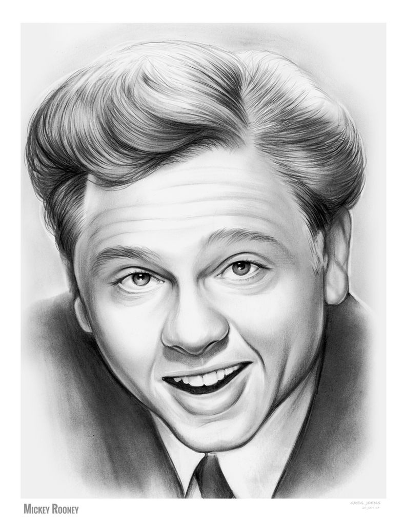 Mickey Rooney by gregchapin