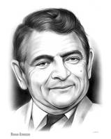 Rowan Atkinson Sketch of the Day for Saturday by gregchapin