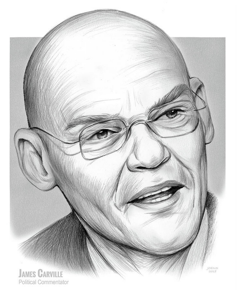 James Carville - political commentator by gregchapin