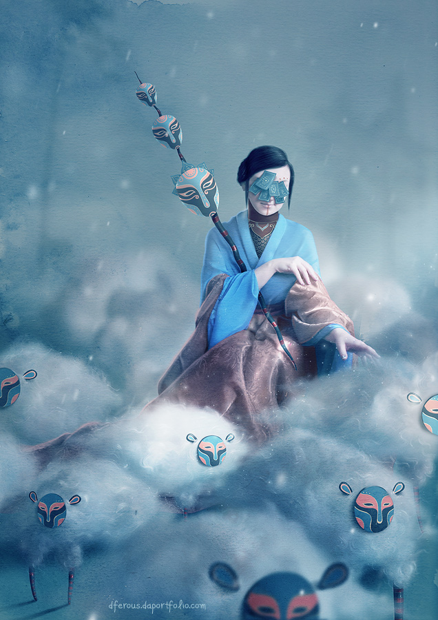The Shepherdess by Dferous