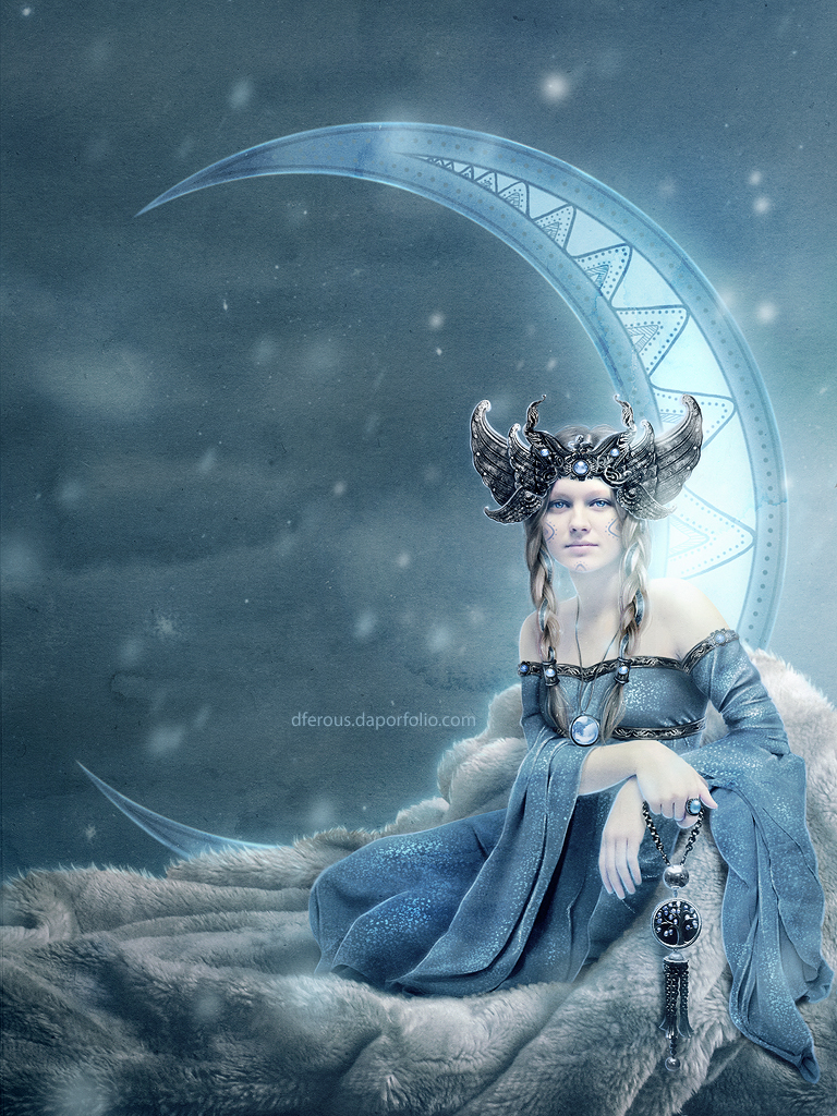 The Moon Goddess (edited) by Dferous