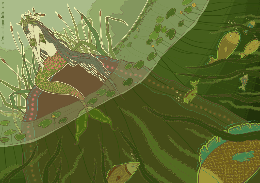 June: Mermaid by Dferous