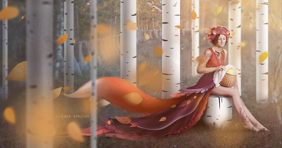 The fox and the sun by Dferous