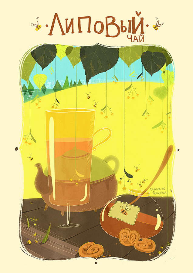 Linden tea by Dferous