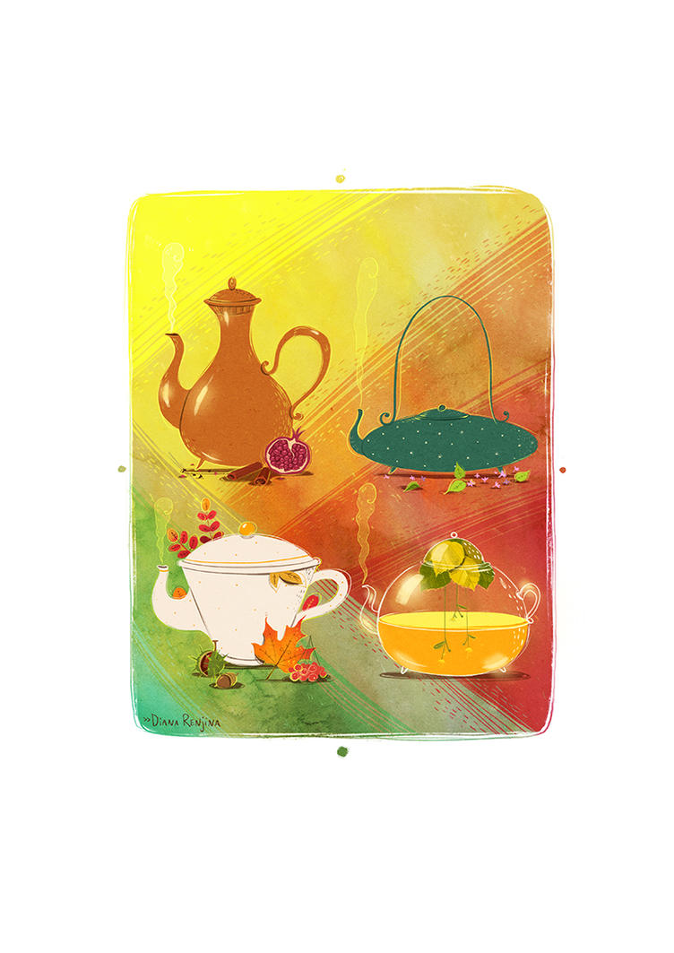 Tea calendar cover by Dferous