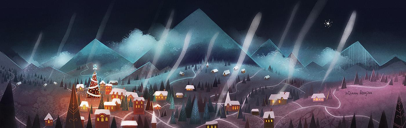 Winter city by Dferous