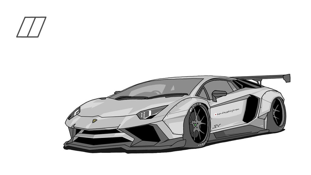 Liberty Walk Lamborghini Aventador SV by rally2727 on ...