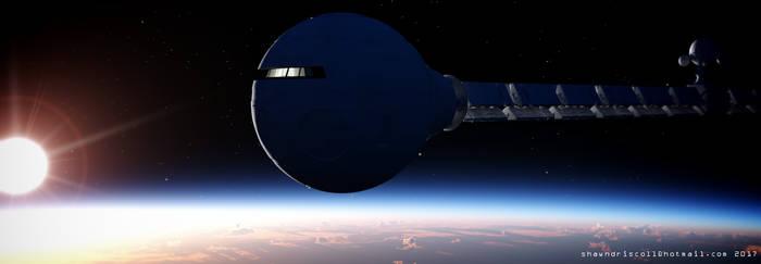 discovery one in orbit 2 SLR