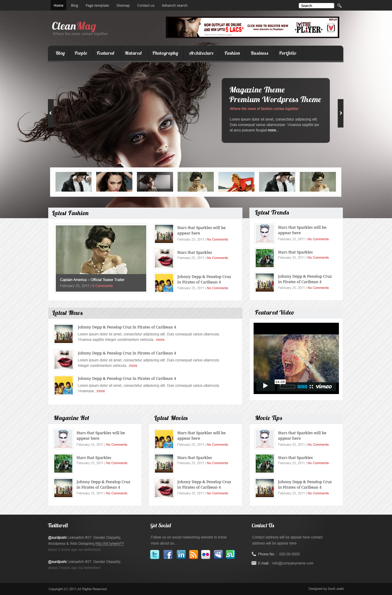 Magazine Theme by sunilbjoshi
