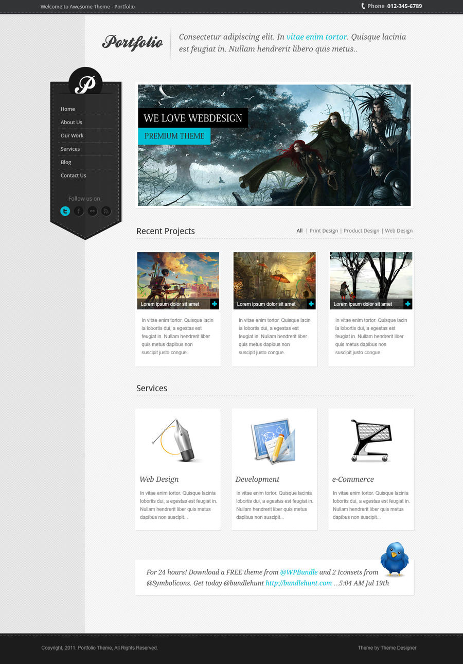 Awesome Portfolio - PREMIUM WORDPRESS THEME by sunilbjoshi