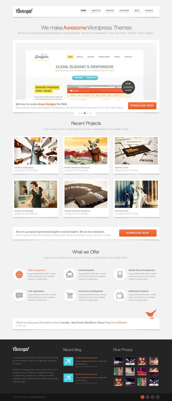 Concept Portfolio / Business Wordpress Theme by sunilbjoshi