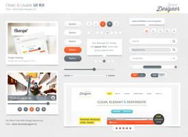 Freebies - Clean and Usable UI Kit by sunilbjoshi