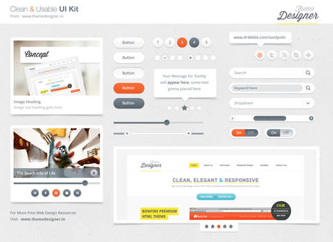 Freebies - Clean and Usable UI Kit