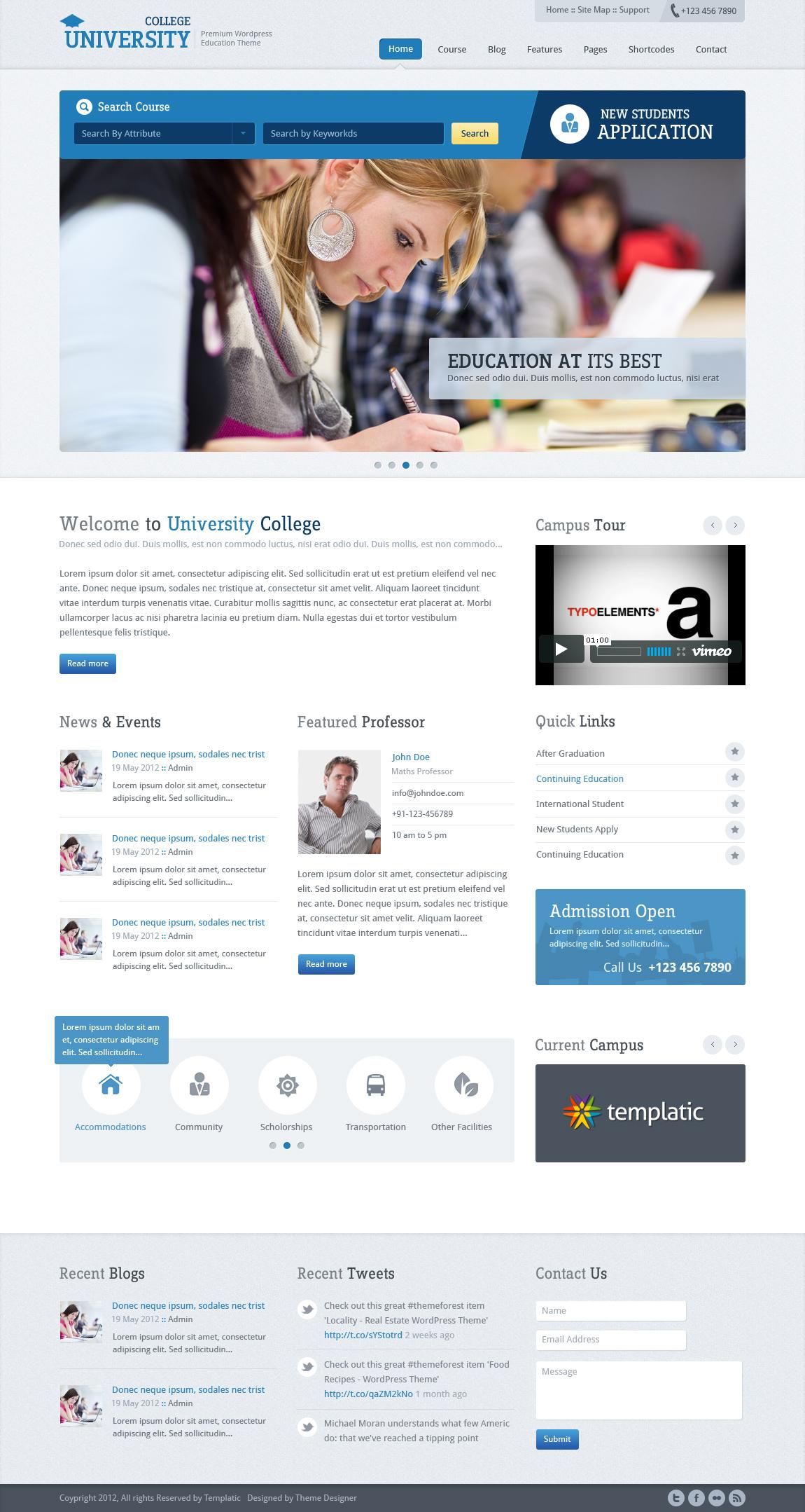 Education Wordpress Theme by sunilbjoshi