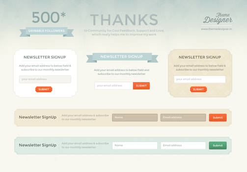 Freebies - Newsletter Signup boxs