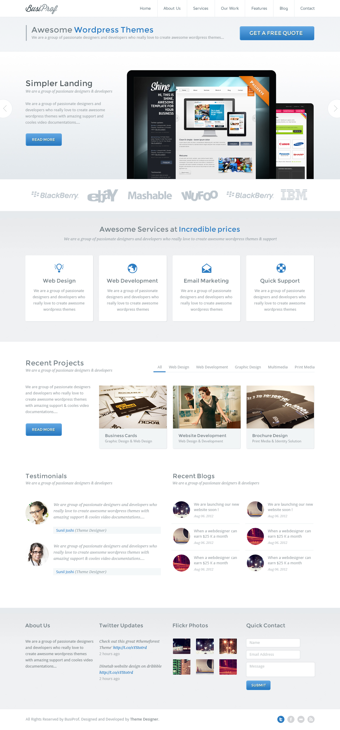 BusiProf Wordpress Theme