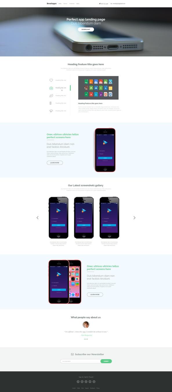 Smart App Landing Page PSD - FREE by sunilbjoshi