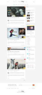 Clean Blog PSD Template