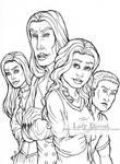 Akredah's Immortals - Lineart