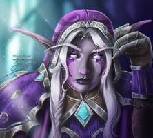 World of Warcraft: Huntress Delilah by Lady-Elizriel