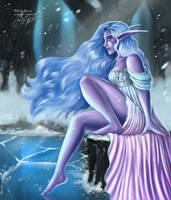 Winterspring Layla: WoW Fanart by Lady-Elizriel