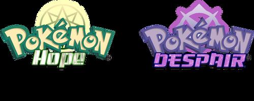 Pokemon Hope and Pokemon Despair logos by SSBfangamer