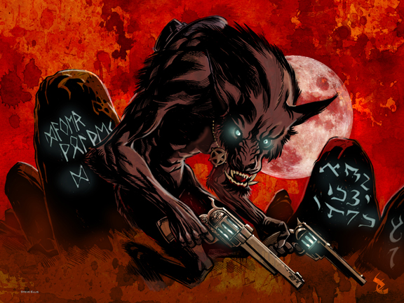 High moon Werewolf by Steve-Ellis