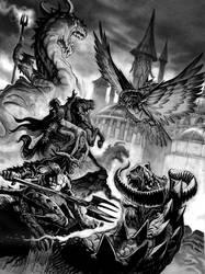 Battle of Tanelorn by Steve-Ellis