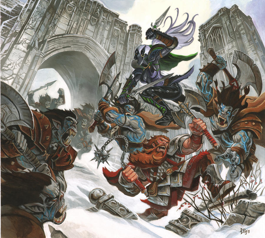 NeverWinter Orc Battle by Steve-Ellis
