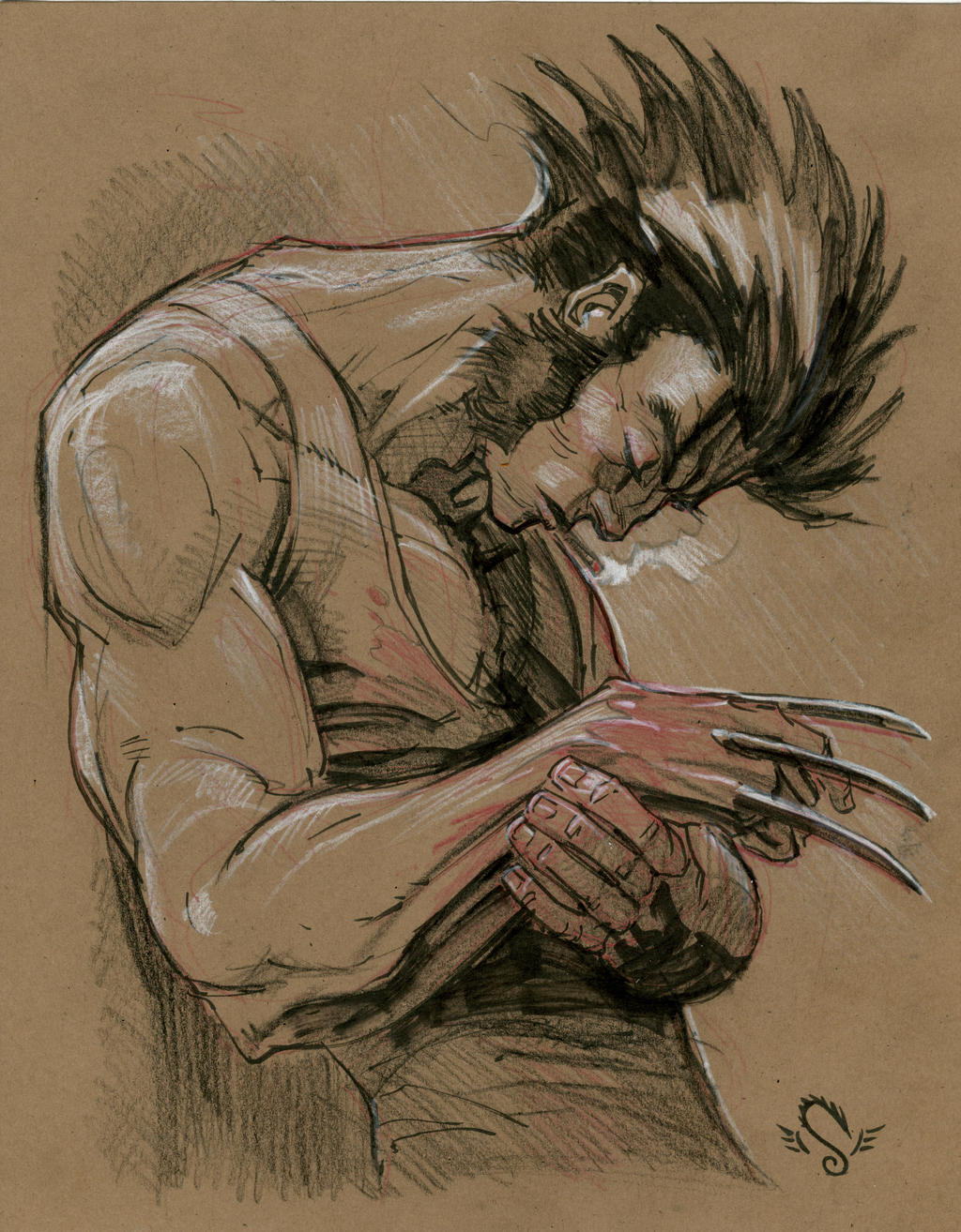 Wolverine.sketch001 by Steve-Ellis