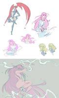 shamanic princess doodle dump by MustacheElm