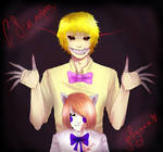 Nightmare Fredbear and Lolbit COLLAB