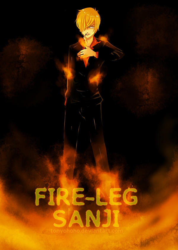 Fire Leg-Sanji by tonyohoho