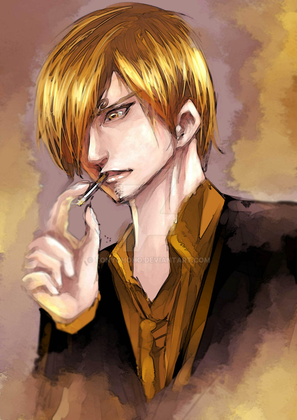 Fanart Sanji One Piece By Tonyohoho On Deviantart