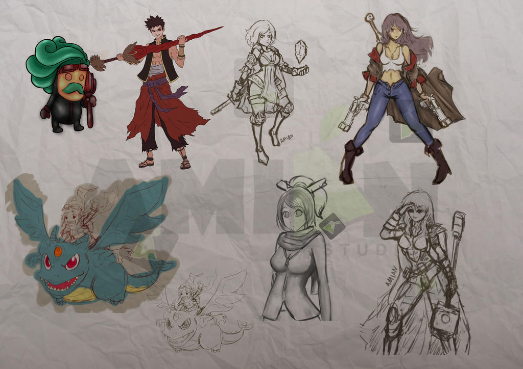 D Artiste Character Design Download : Study character design by amian on deviantart