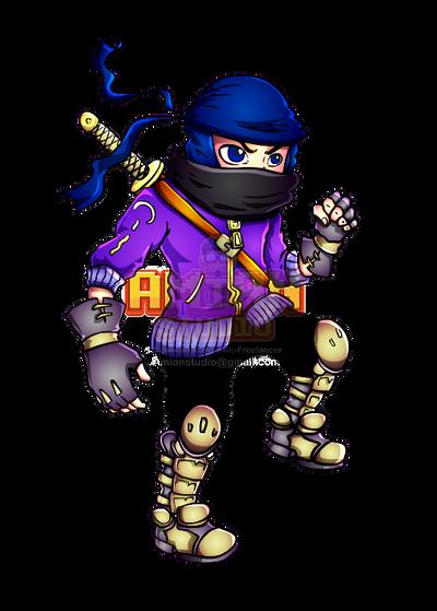 Purple Ninja by AMINAZIMAN