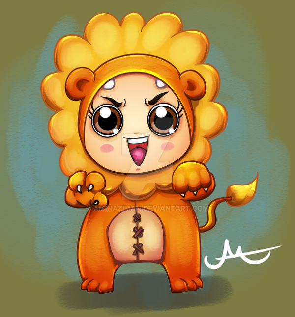 Lion Costume Girl by AMINAZIMAN
