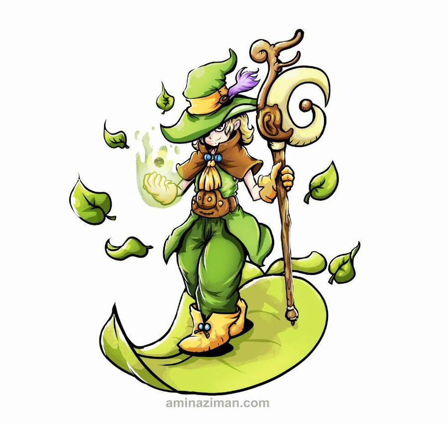 Fleaf the wizard  by AMINAZIMAN