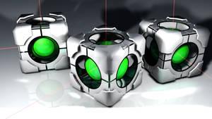 Portal 2 refraction cubes