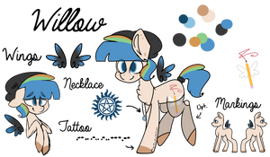 Willow Ref Sheet (Ponysona) by Wooden-Willow