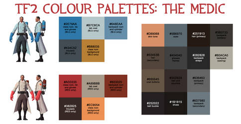 Team Fortress 2 Palette - The Medic