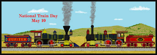 National Train Day 150 Anniversary by Andrewk4
