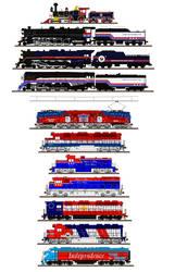 Bicentennial locomotives by Andrewk4
