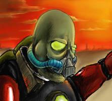 Evil Alien Guy Colored by Sabu-Kudo